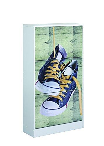 Closet Norte - 4010140008, Scarpiera con stampa, motivo: Scarpe
