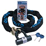 Oxford HD 2.0m Chain Lock Sold Secure Motorcycle Chain Lock Motorbike Scooter Best