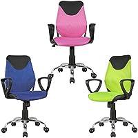 Preisvergleich für FineBuy Kinder-Schreibtischstuhl Kim Schwarz Pink für Kinder ab 6 mit Lehne | Kinder-Drehstuhl Kinder-Bürostuhl ergonomisch | Jugendstuhl höhenverstellbar