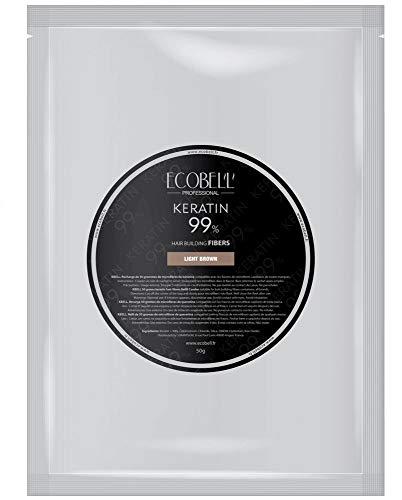 Ecobell Schütthaar Nachfüllbeutel Keratinfasern zur Haarverdichtung - 50g, Haarfarbe:Dark Brown - Dunkelbraun