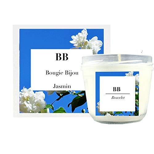 Bougie Bijou - Bougie avec Un Bijou de créateur à l'intérieur - Bracelet Or 24 carats - Bougie Senteur Jasmin - Cire de soja Naturelle