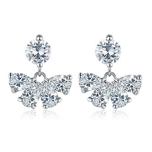 Kein 564 Modell (SDFGNH Floral Zirkon Ohrringe White Star Hochzeit Ohrstecker Ideal für Frauen und Teenager-Parteien)