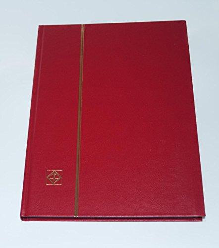 'Leuchtturm Briefmarkenalbum DIN A4, 32schwarze Seiten, non-padded, rot