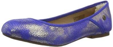 UGG  Antora Lizard, Ballerines pour femme - Bleu - Blau (IBT), Taille 38 EU