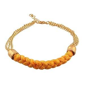 I Jewels Gold Plated Rakhi Bracelet For Boys/Men - Yellow (R620)