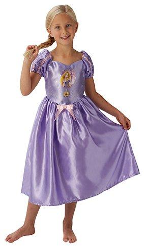 Princesas Disney - Disfraz de Rapunzel Deluxe para niña, infantil 3-4 años (Rubie's 620490-S)
