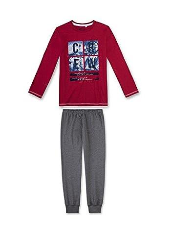 Sanetta Jungen Zweiteiliger Schlafanzug 243796, Gr. 140, Rot (signal 3130)
