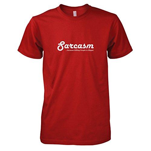TEXLAB - Sarcasm - Herren T-Shirt Rot