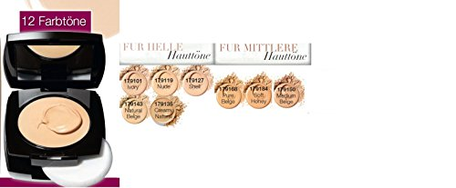 Avon Ideal Flawless Cremefoundation mit pudrigem Finish Farbe Shell