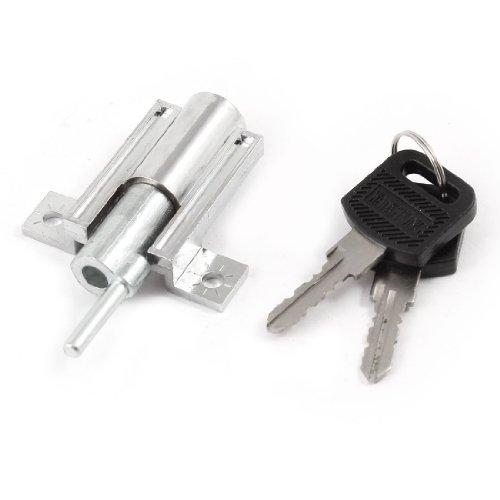 Home Schwebetürenschrank Sicherheit sperren Metall Plunger Lock w 2Schlüssel