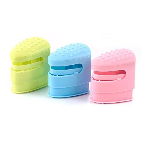 ruck Handtuch Ordner Küche nail-free Badezimmer Handtuchstangen ein Set von drei (Pink/Grün/Blau) (Küche Tong Set)