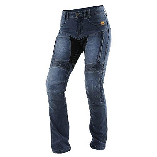 Tril obite agnox Jean pour femme moto étanche Long Taille - Bleu