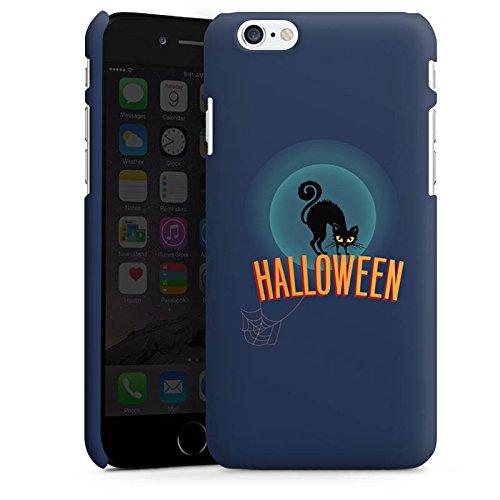 Apple iPhone X Silikon Hülle Case Schutzhülle Halloween Katze Gruselig Premium Case matt