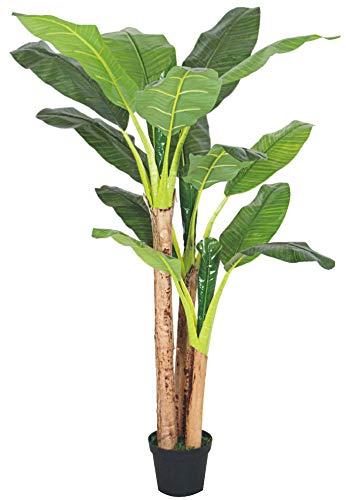 Decovego Bananenbaum Bananenstaude Kunstpflanze Künstliche Pflanze Echtholz 190cm