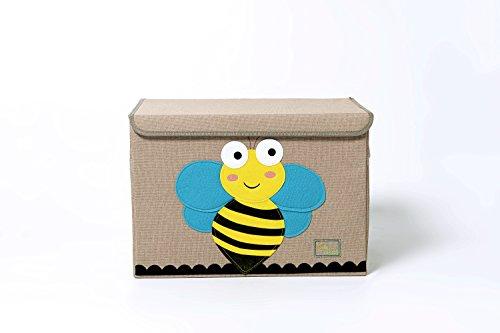 Trureey, grande cassapanca per bambini, con coperchio, contenitore per giocattoli pieghevole e robusto bee