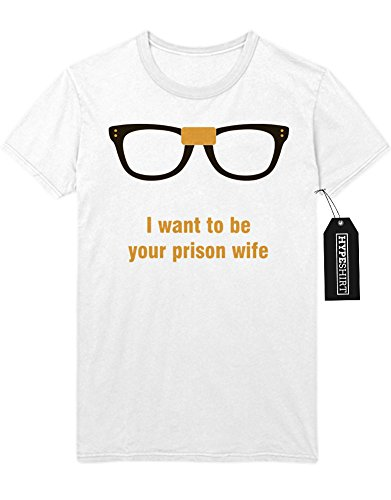 """T-Shirt Orange is the new Black """"I WANT TO BE YOUR PRISON WIFE"""" C210041 Weiß"""