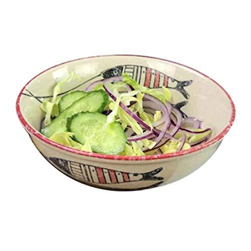XXJ-Schüsseln Japanischen Stil Handgemalte Haushalt Keramikschale Küche Geschirr Essen Suppe Nudel Ramen Bowl Große Vintage Dish Obstschale 6,5-8,5 Zoll (Size : 17 * 6CM) 6-zoll-candy Dish
