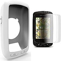 Garmin Edge 800 810 /Approach G6 G7 Silikon Schutzhülle + Display Schutz, TUSITA® Ersatz Schutz Bundle Soft Cover Case Lanyard Zubehör für Garmin GPS Fahrradcomputer