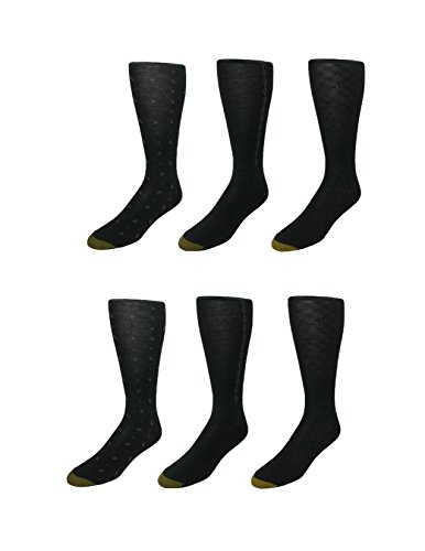 Gold Toe Herren Socken, Einfarbig schwarz schwarz Einheitsgröße Gr. Einheitsgröße, schwarz (Gold Toe Cotton Herren Socken)