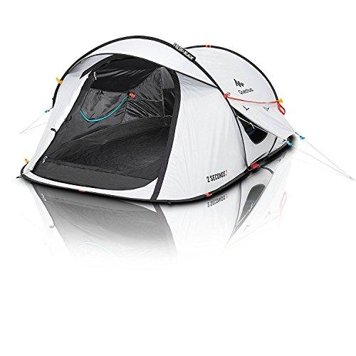 Quechua 2 Seconds Easy II FRESH & BLACK 2 Man Waterproof Pop Up Camping Tent by Quechua