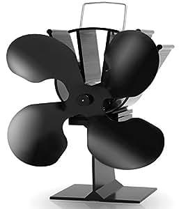 aobosi stove fan hitze powered ofen ventilator f r log burning kamine und multi kraftstoff herd. Black Bedroom Furniture Sets. Home Design Ideas