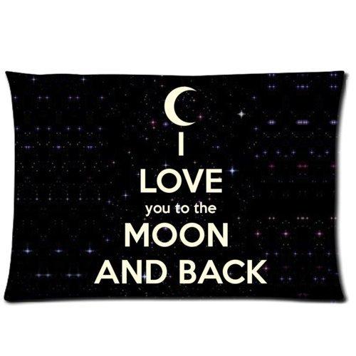 huirong Kissenbezüge Design 50,8x 76,2cm Love Quotes I Love You to The Moon and Back Kissen Displayschutzfolie, Kissen, eine Seite Druck (Dekorieren Sie Einen Kissenbezug)