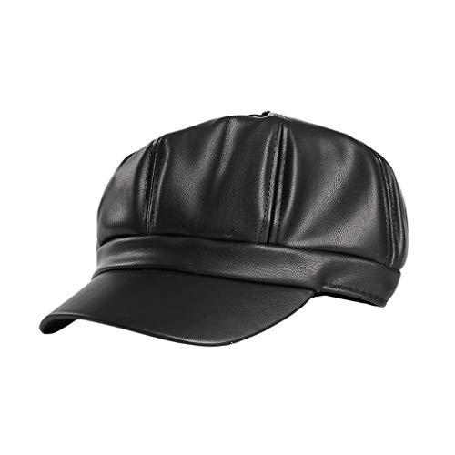 Syeytx Unisex Cortex Pferdeschwanz chaotisch Brötchen Trucker Plain Baseball Visier Cap Papa Hut - Gucci Cap Hut