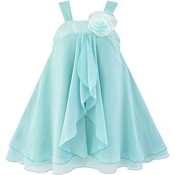 Sunny fashion vestito floreale bambina giallo amazon for Amazon abbigliamento bambina