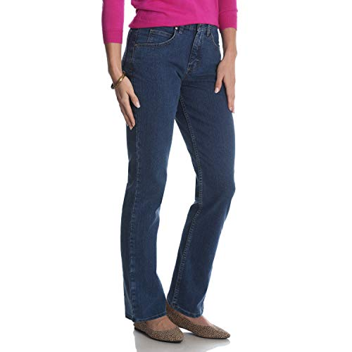 Riders by Lee Indigo Damen Classic-Fit Straight-Leg Jeans, Gulf, 42 -