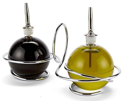 Black + Blum Edelstahl & Glas Öl & Essig Loop Salatdressing Flaschen Black Blum Loop