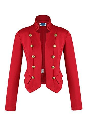 AO 4tuality® Kurzblazer Military Style rot Gr. M (Jacken Für Style Military Frauen)