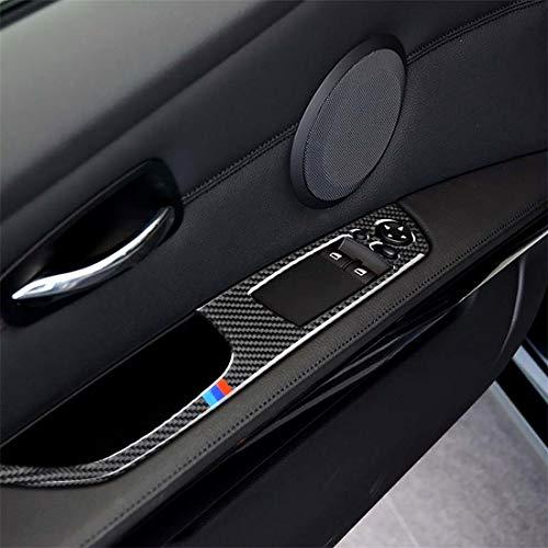 JHMJHM Car Interior Stampaggio parte di ricambio Adesivo decorativo for pannello di sollevamento a sinistra for 2 pezzi in fibra di carbonio a 3 colori for BMW E92 2005-2012, diametro: 40,4 cm Car Sty