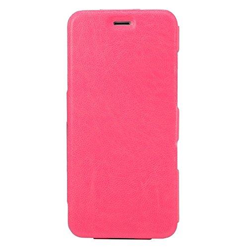 Phone case & Hülle Für IPhone 6 Plus / 6S Plus, Horizontal Flip Ultra Thin Leder Tasche mit Halter ( Color : Black ) Magenta