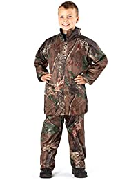 Pro Climate Childrens Kids Boys Camo Waterproof Jacket   Trousers in A Bag 90cc93af5699d