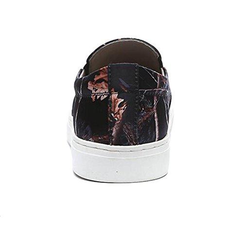 Scarpe Casual Maschile Dress Adolescente All'aperto Moda Scarpe Sport Slip On Personalità Nera Nero