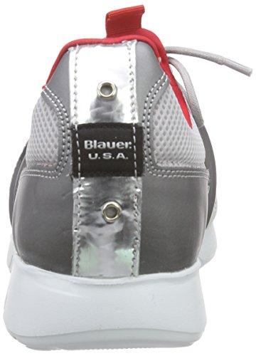 Blauer USA 6sneotek/Mix, Baskets Basses homme Argent - Argenté