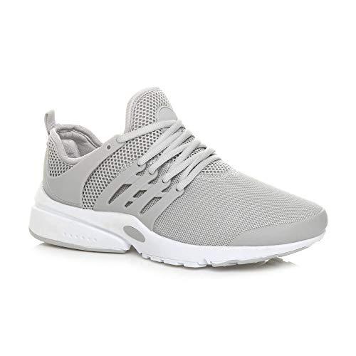 Ajvani Herren Sneaker, Grau - Grau - Größe: 45