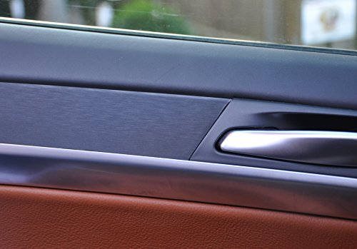 12 tlg. Alu gebürstet schwarz Interieurleisten 3D Folien SET 100µm stark, Türleisten, Mittelkonsole, Aschenbecher passend für Ihr Fahrzeug