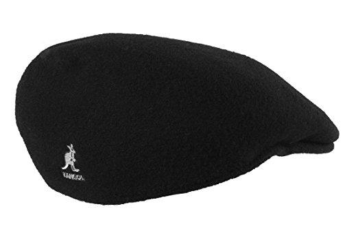 kangol Graue Flatcap 504 von Kangol der Young Fashion Line aus 100% reiner Schurwolle Schwarz M