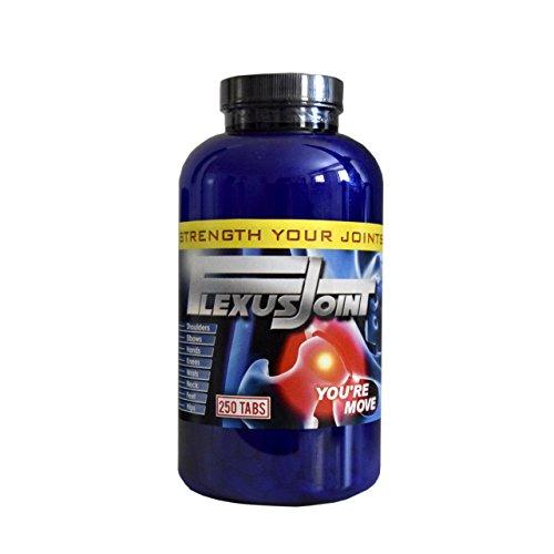 Gelenktabletten FlexusJoint 250 Tabletten | hochdosiert | mit Chondroitin MSM Beef Collagen | Glucosamin Ginger Extract Formel | für Gelenke Knorpel Gelenkschmerzen