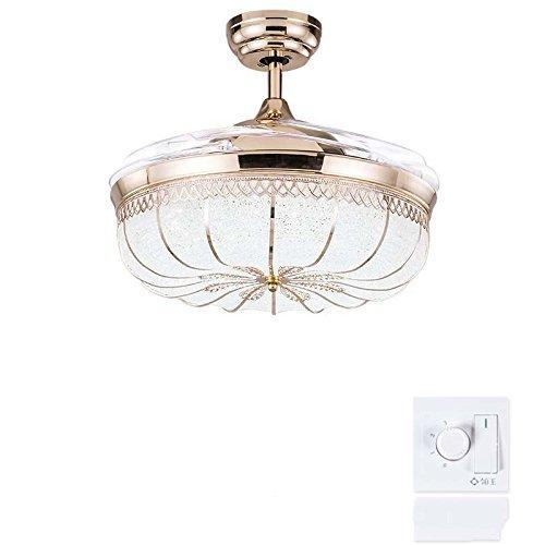 Stealth Ventilador de Techo Luces Comedor Ventilador lámpara Salón Dormitorio casero lámparas con Ventiladores eléctricos