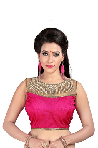 Tits Fashion Pink Banglori Silk Handwork Designer Blouse