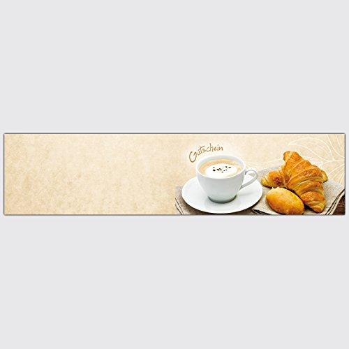 """Gutschein Bäckerei """"Cappuccino"""" – Format: DIN Lang, 50 Stück"""