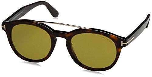 Tom ford occhiali da sole ft0515 sunglass pant havana with green, 53