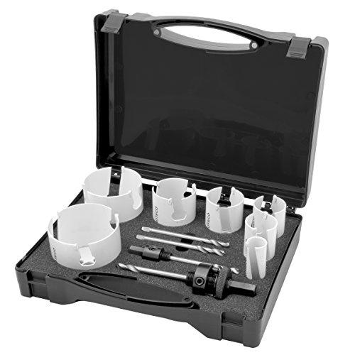 Proteco-Werkzeug® HM Hartmetall Lochsäge Holz Lochsägen Satz 13-teilig Dosenbohrer Bohrkrone Trockenbau