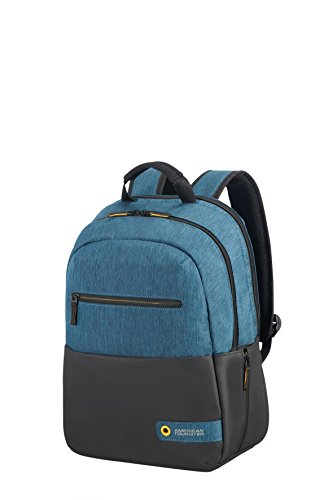 American Tourister City Drift Zaino Casual, 40 cm, 20 litri, Black/Blue
