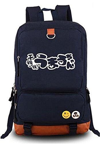 Gumstyle Anime Himouto! Umaru Chan Luminous Große Kapazität Schulranzen Cosplay Rucksack schwarz und blau (Umaru Doma Kostüm)