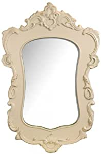 Ornate Antique White French Shabby Chic Style Wall Mirror ...