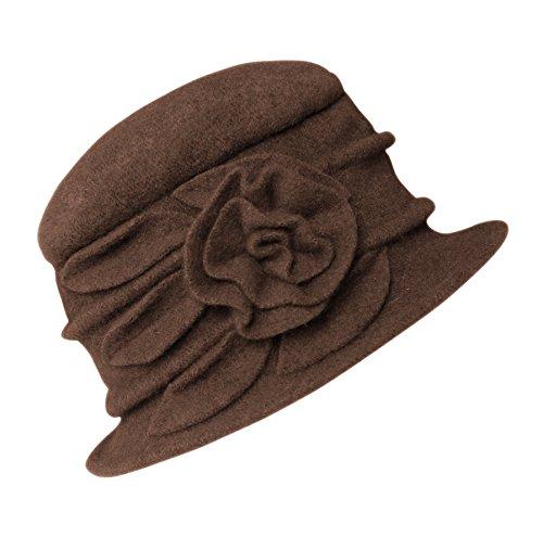 Urban GoCo Urban GoCo Damen Vintage Bucket Hut Wintermütze Beret (#1 Braun)