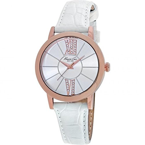 kenneth-cole-womens-white-leather-silver-dial-kc10020847